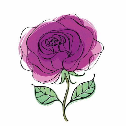 Graphic Rose